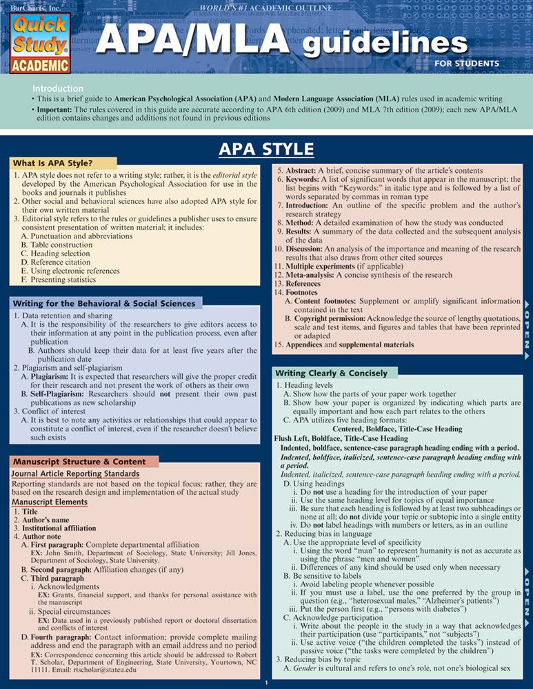 APA-MLA Guidelines