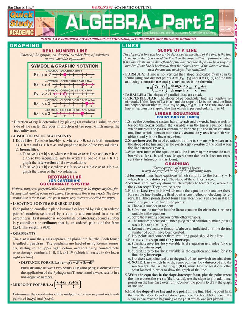 Algebra Part 2