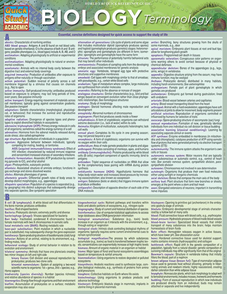 Biology-Terminology