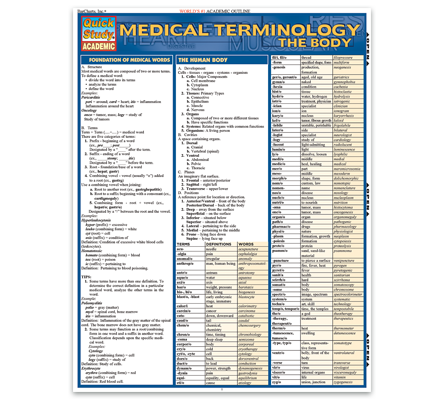 Medical Terminology: The Body