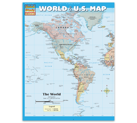 World & US Map