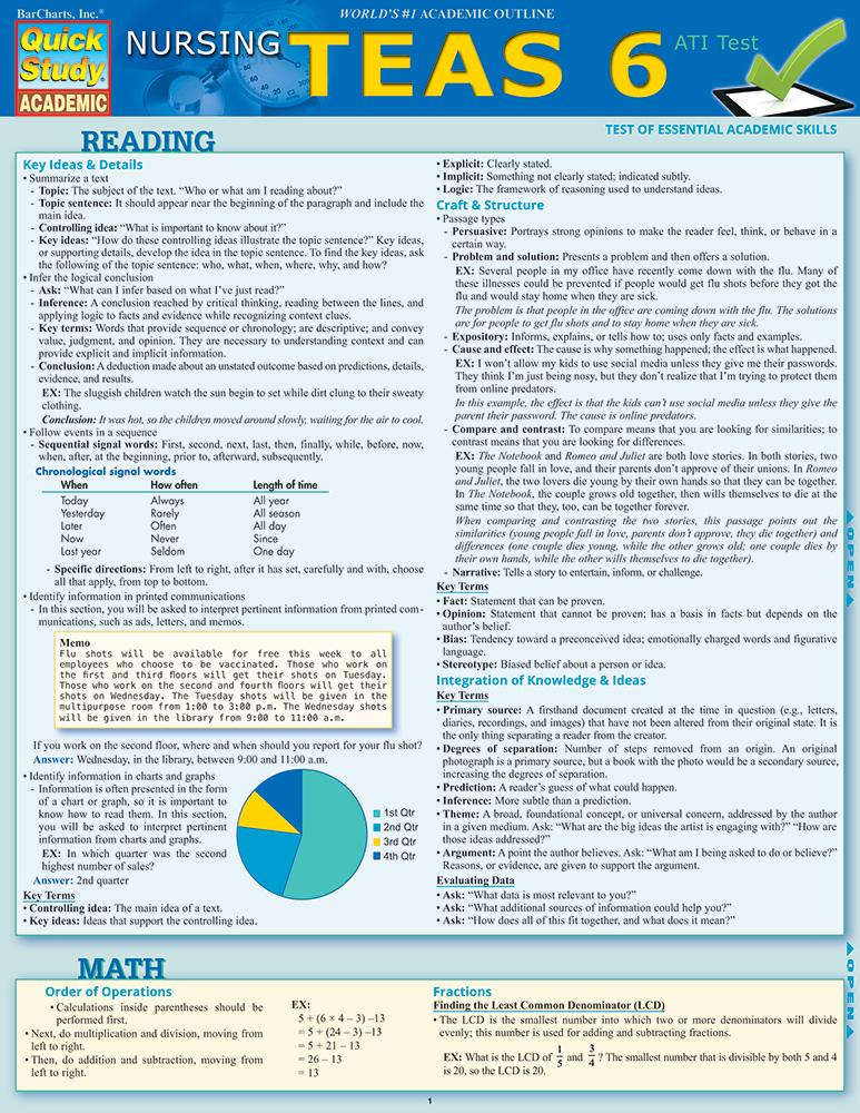 Nursing TEAS 6