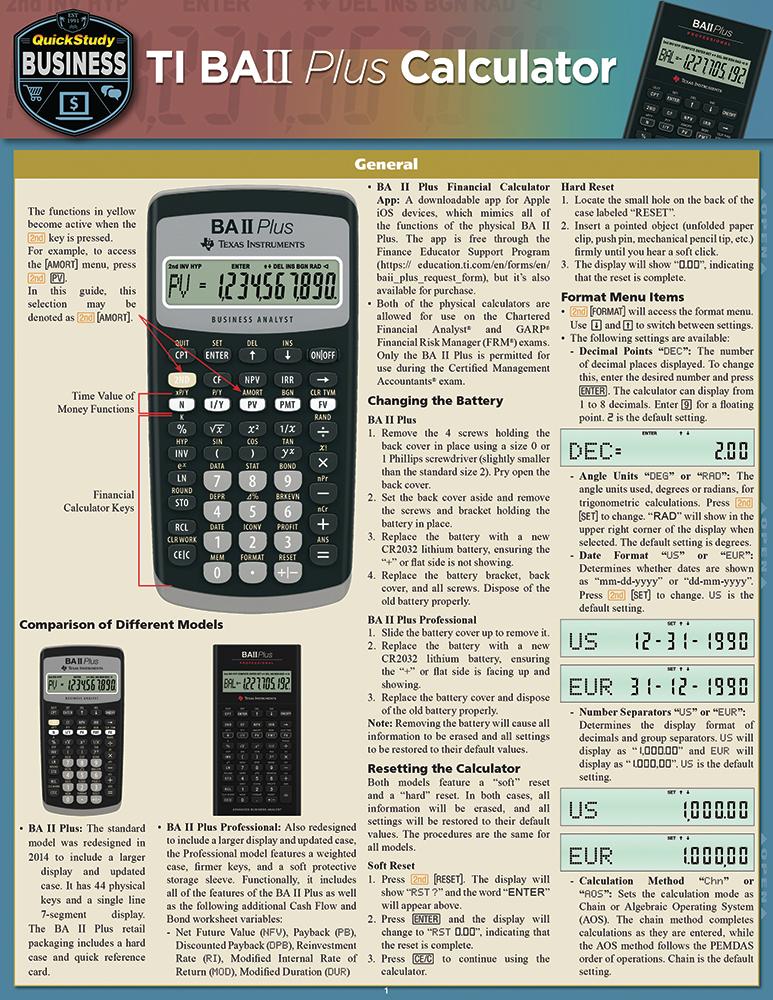 Ti BA II Plus Calculator