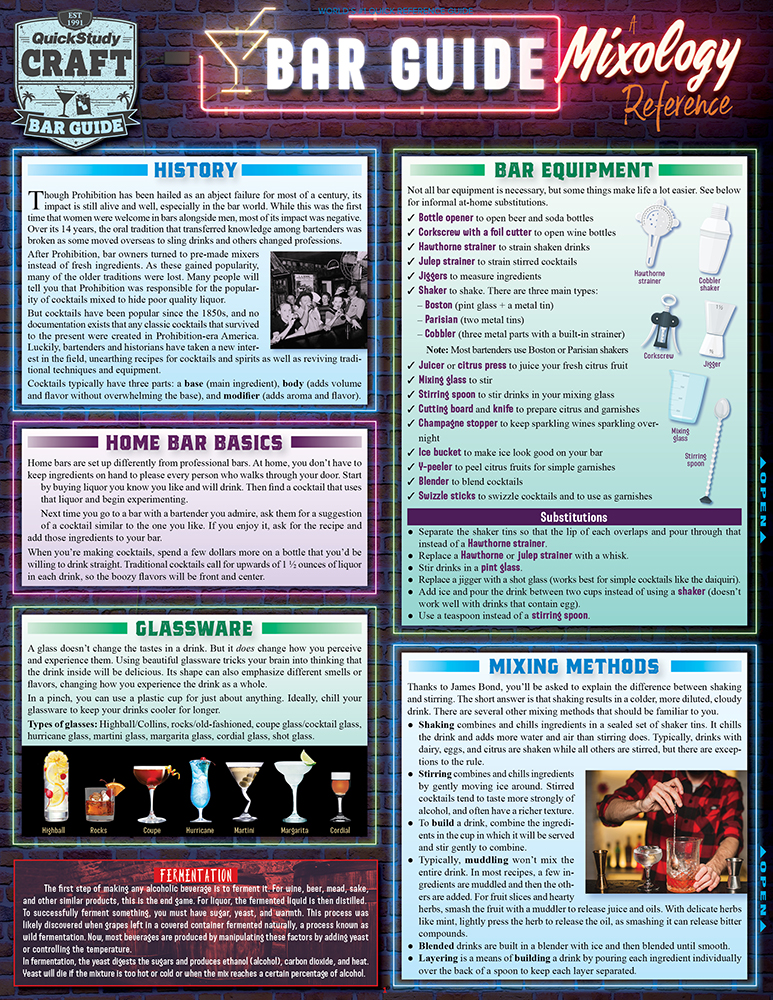 Bar Guide A Mixology Reference