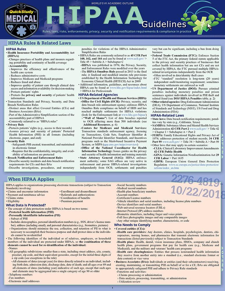 HIPAA Guidelines
