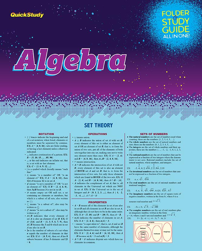 Algebra Folder
